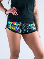 Trippy Hamsa Women's Retro Shorts Women's Shorts T6 XS Black