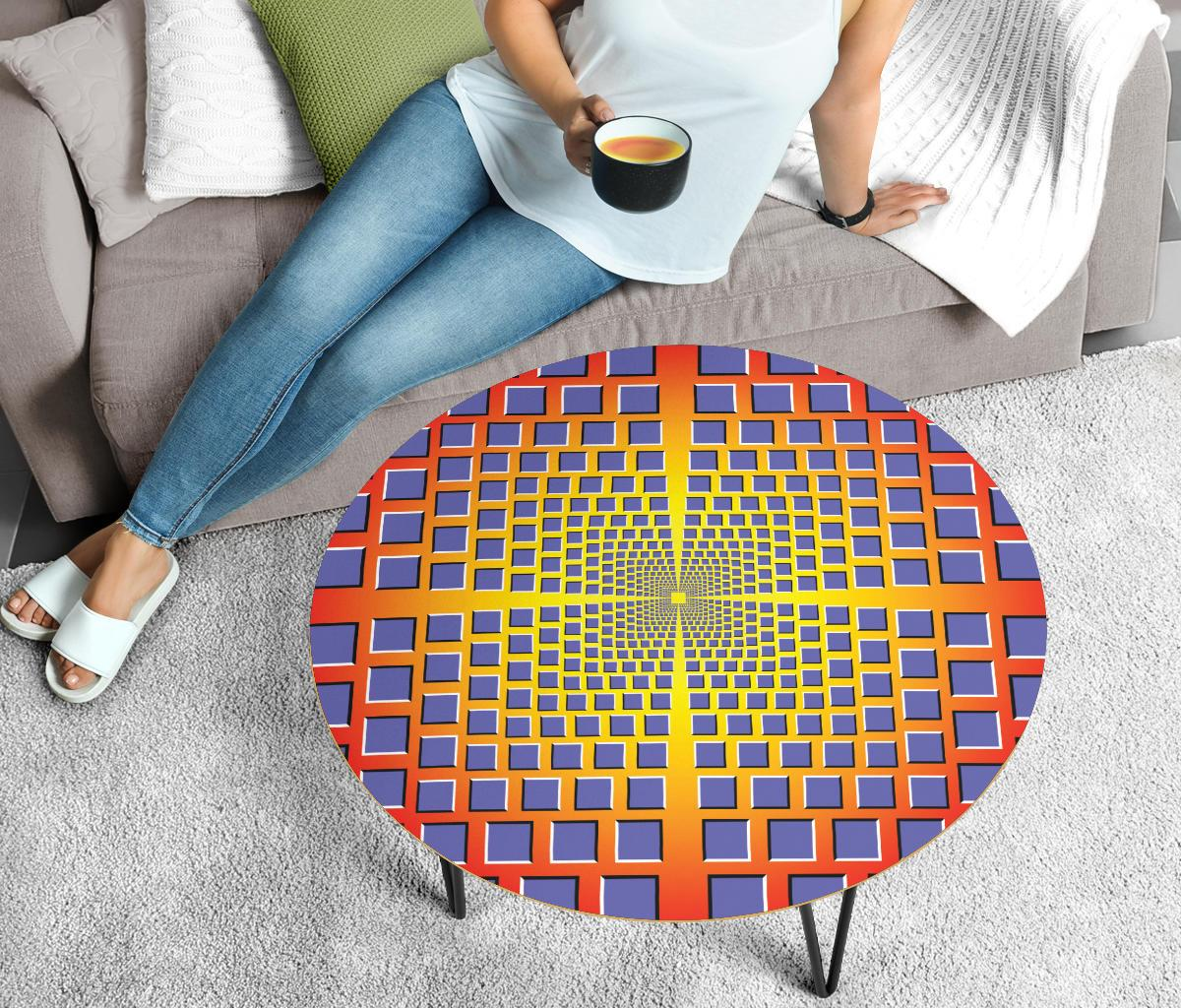 Trippy Illusion Coffee Table Coffee Table Electro Threads