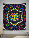 Trippy Lotus Tapestry Tapestry Electro Threads