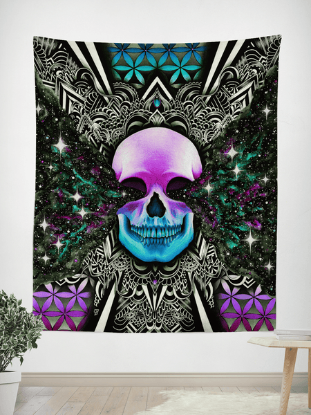 "Twilight Zone 2.0 Tapestry Tapestry Electro Threads SMALL: 32"" x 42"""