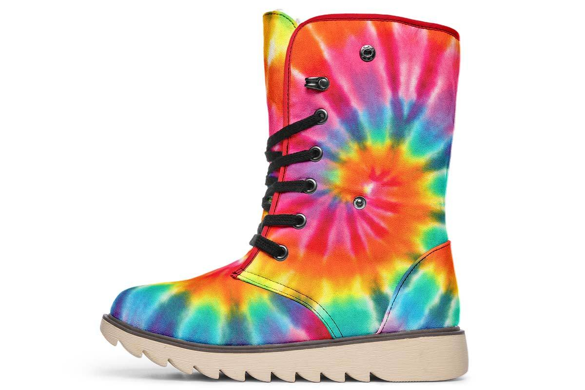 Tye Dye Moon Boots YWF Women's Moon Boots Cream White Sole US 4.5 / EU35