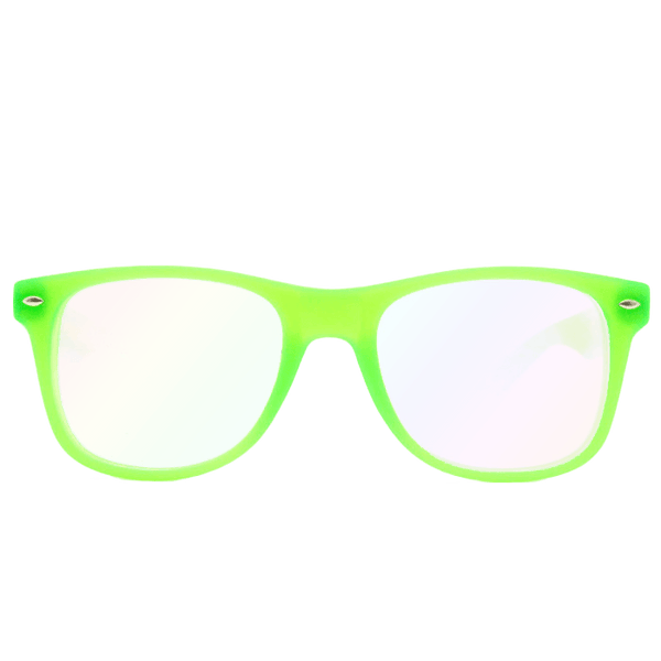 Ultimate Diffraction Glasses – GLOW Green Glasses Electro Threads Ultimate Glow Green Diffraction Glasses Green