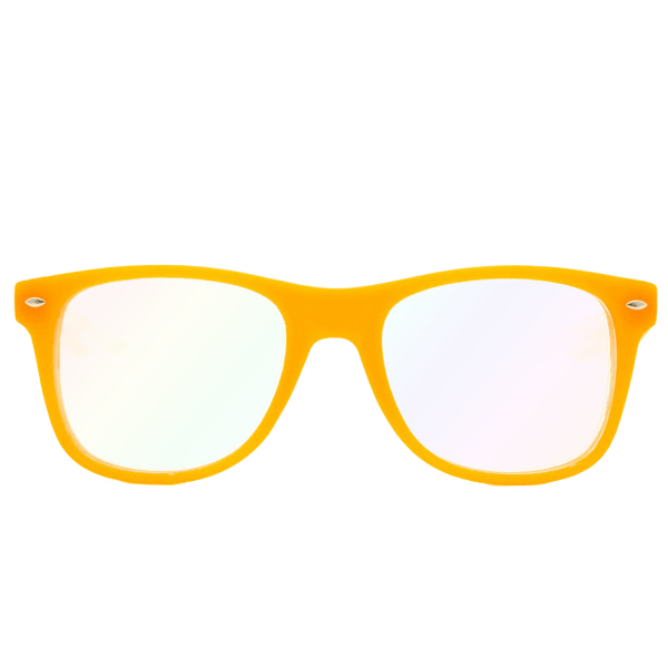 Ultimate Diffraction Glasses – GLOW Orange Glasses Electro Threads Ultimate Glow Orange Diffraction Glasses Orange