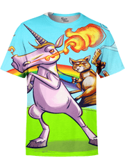 Unicorn Party Unisex Crew T-Shirts T6