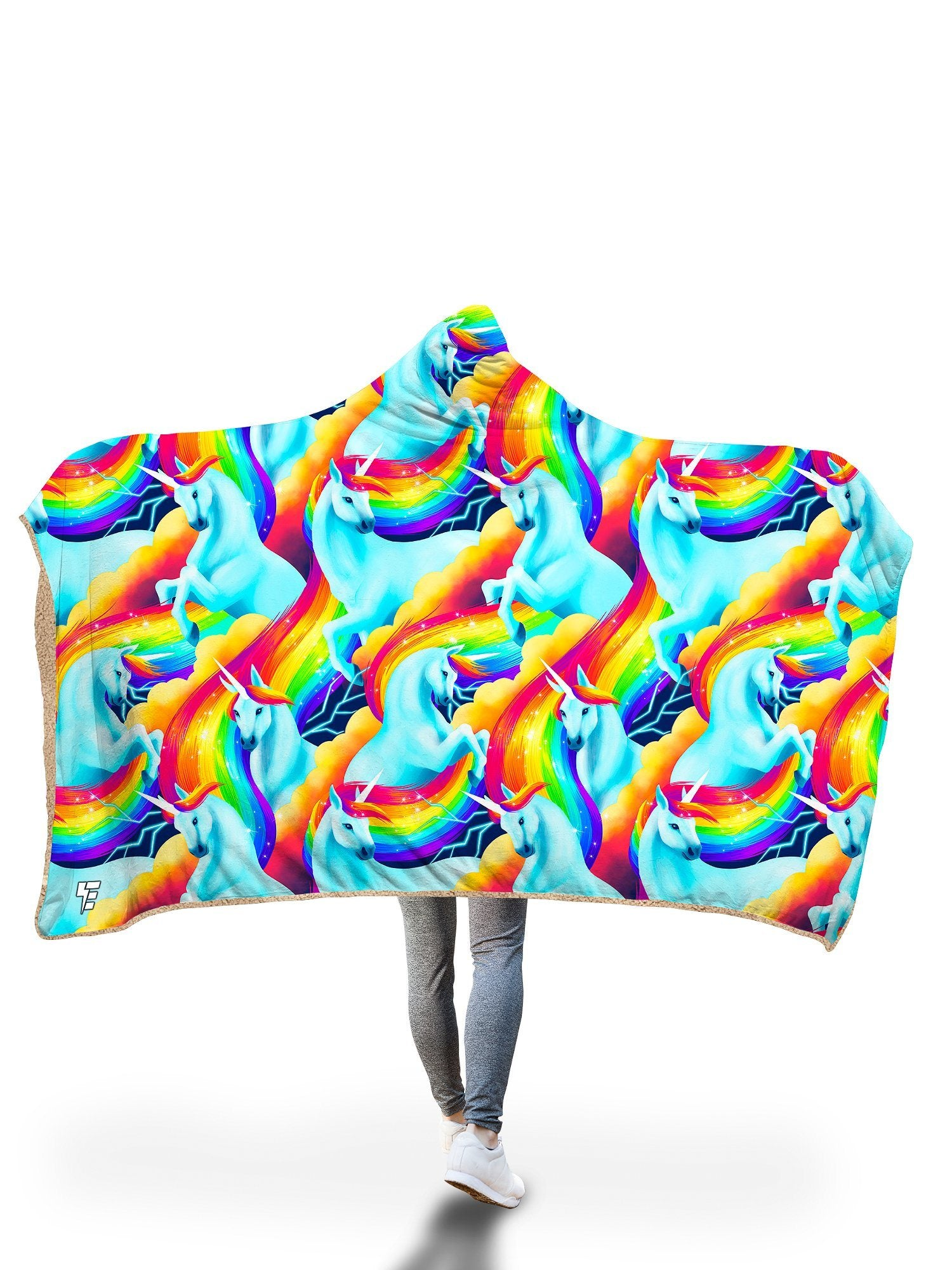 Unicorn Sherbet Hooded Blanket Hooded Blanket Electro Threads