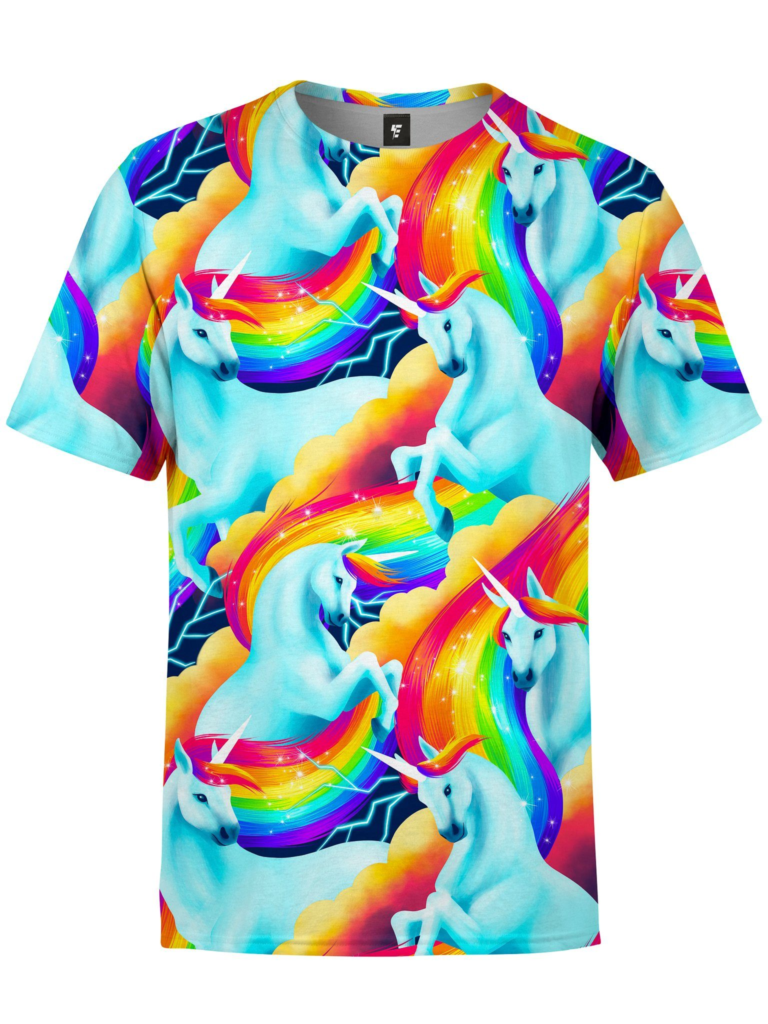 Unicorn Sherbet Unisex Crew T-Shirts Electro Threads