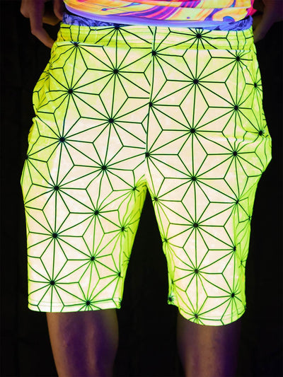 UV Infinite Connection Shorts Mens Shorts Electro Threads 28 - XS Yellow Regular