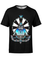 Vibe Tribe Black Unisex Crew T-Shirts Electro Threads