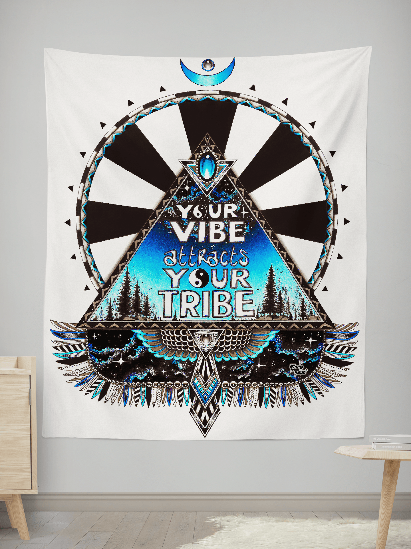 Vibe Tribe Wall Tapestry Tapestry Electro Threads SMALL: 32