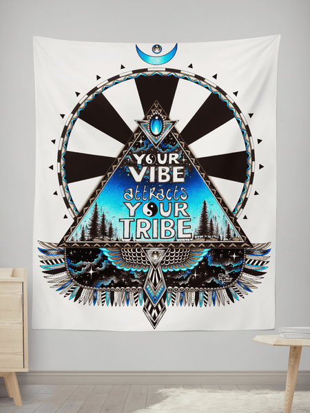 "Vibe Tribe Wall Tapestry Tapestry Electro Threads SMALL: 32"" x 42"""