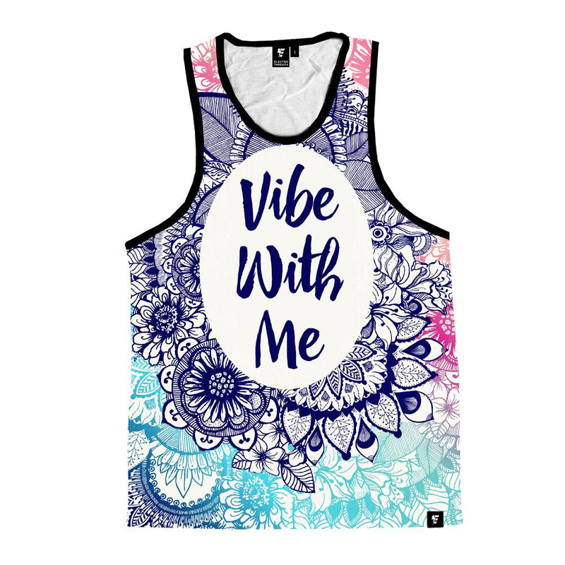 Vibe With Me Mandala Unisex Tank Top Tank Tops T6