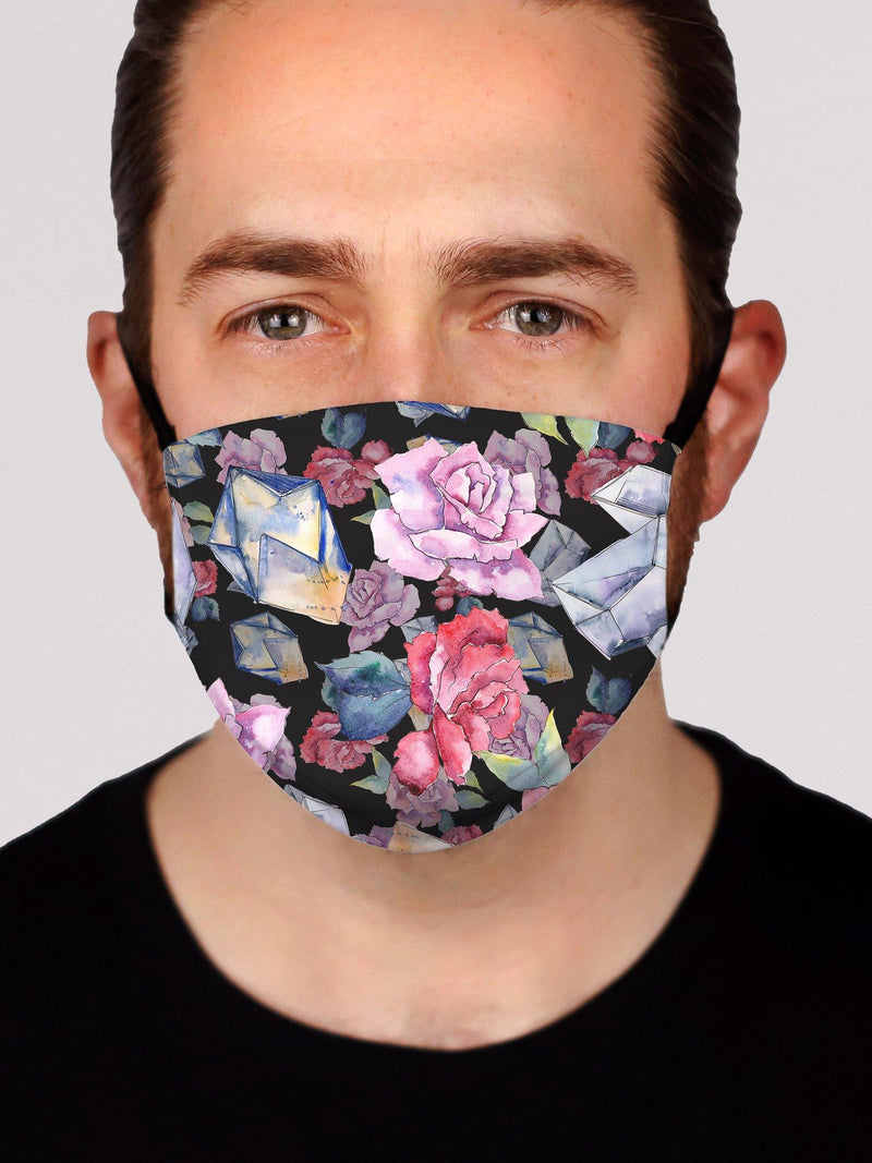 Vintage Flowers 2.0 Face Mask Electro Threads