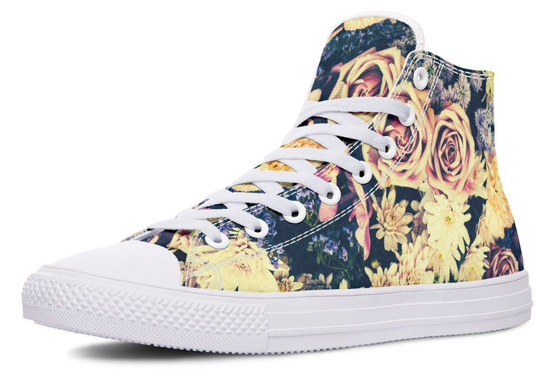 Vintage Flowers Hightop YWF Women's Hightops Black Sole US 5 / EU35.5