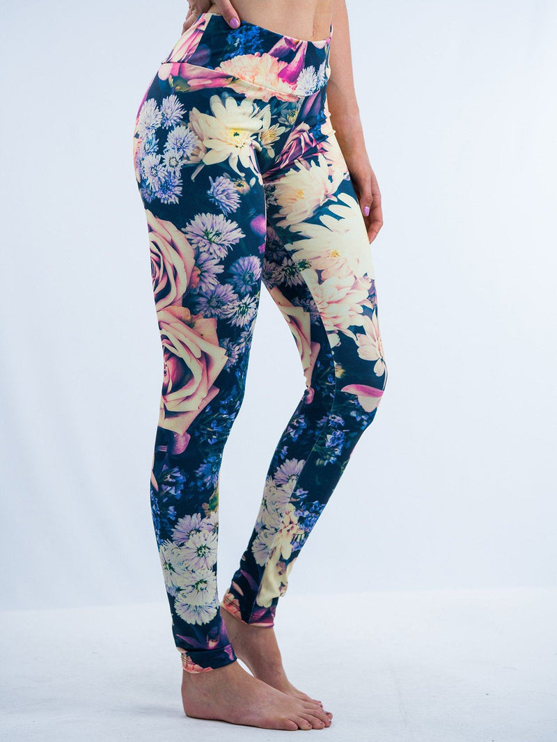 Vintage Flowers Leggings Leggings T6