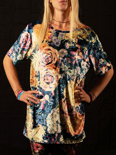 Vintage Flowers Unisex Crew T-Shirts Electro Threads