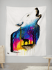 "Wolf Reh Tapestry Tapestry Electro Threads SMALL: 32"" x 42"""
