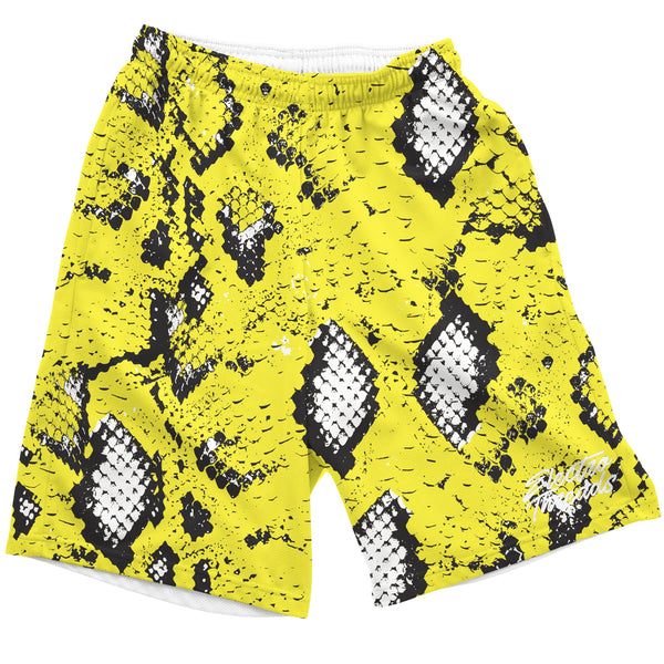 Yellow Snake Skin Shorts Mens Shorts T6