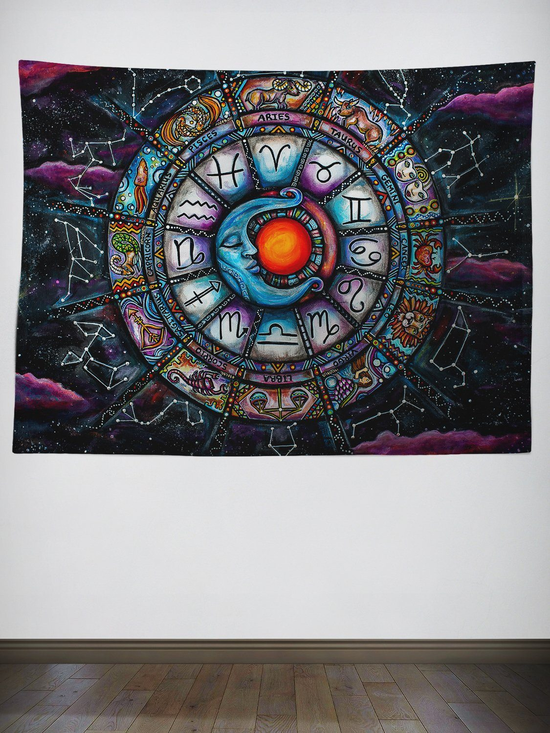 Zodiac Tapestry Tapestry Electro Threads