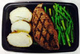 Grilled Flank Steak with Asparagus and White Potato