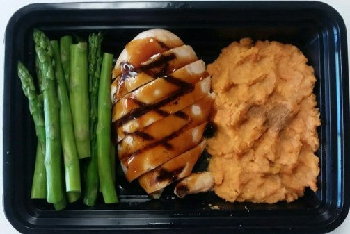 Teriyaki Chicken w Mashed Sweet Potato