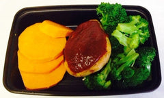 BBQ Chicken with Broccoli and Sweet Potato