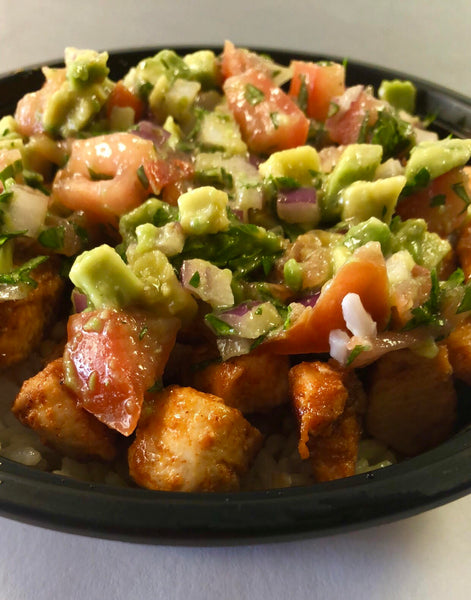 Chipotle Chicken with Avocado Salsa