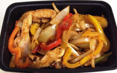 Chicken Fajita with Sauteed Peppers, Onions and Rice