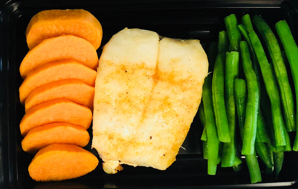 Orange Roughy, Green Beans with Sweet Potato