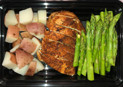 Blackened Chicken w Asparagus & White Potato