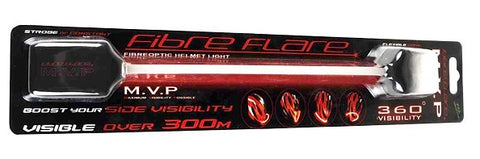 Fibre Flare MVP Bike Helmet LED Light In Pack