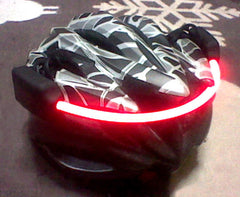 Fibre Flare MVP Red Bike Helmet Safety LED Light