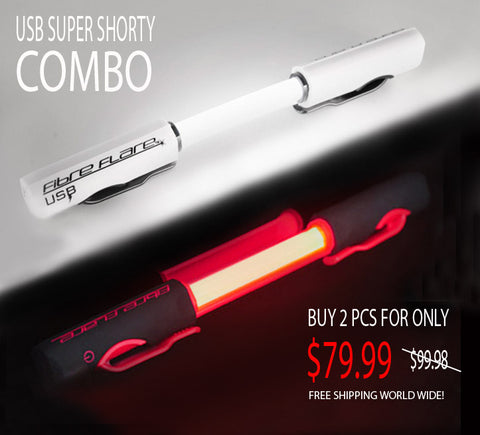 Fibre Flare USB | Super Shorty | RED & WHITE | Twin Combo