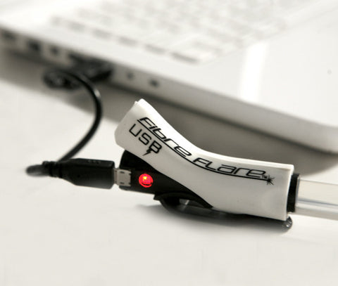 Fibre Flare USB | Super Shorty | WHITE (Black Housing)