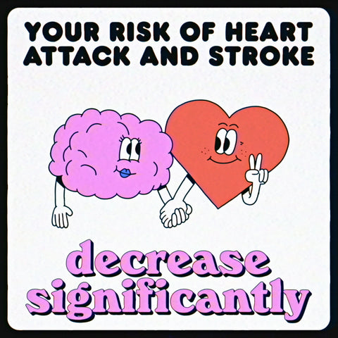 What happens to your body when you quit smoking. Risk of heart attack and stroke decrease significantly