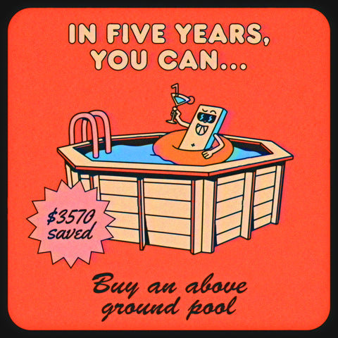 How much money you save when you quit smoking: buy an above ground pool in five years