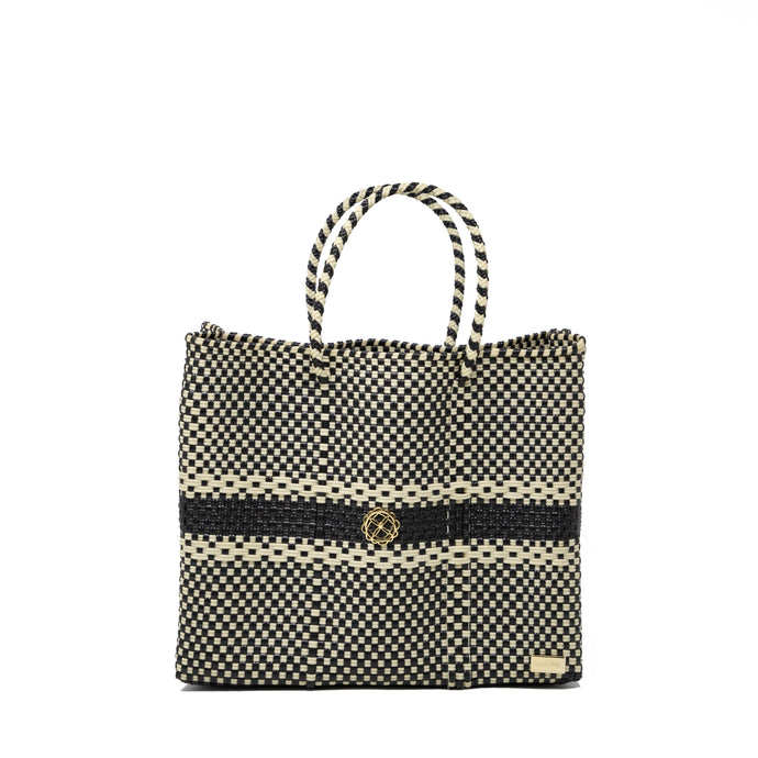 SMALL BLACK STRIPE TOTE BAG