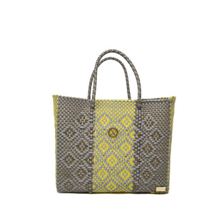 SMALL GRAY AZTEC TOTE BAG