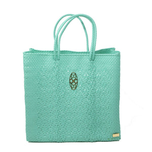 MEDIUM AQUA GREEN TOTE BAG