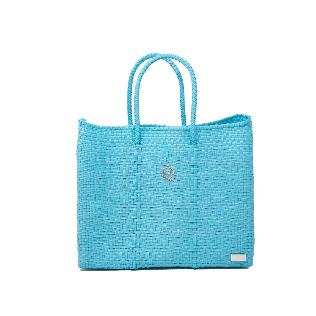 SMALL SEA BLUE TOTE BAG