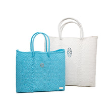 Load image into Gallery viewer, SMALL SEA BLUE TOTE BAG