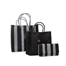 Load image into Gallery viewer, BLACK STRIPE CLUTCH