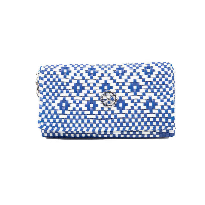 BLUE AZTEC CLUTCH