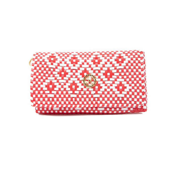 RED AZTEC CLUTCH