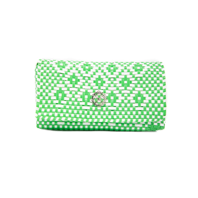 GREEN AZTEC CLUTCH