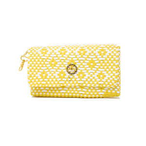 YELLOW AZTEC CLUTCH