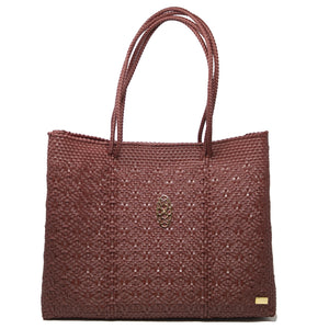 BURGUNDY TOTE WITH CLUTCH
