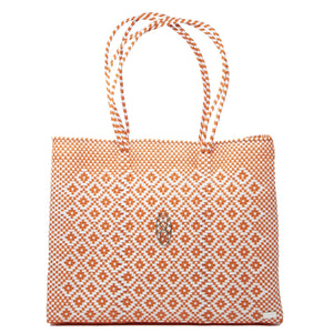 ORANGE AZTEC TOTE WITH CLUTCH
