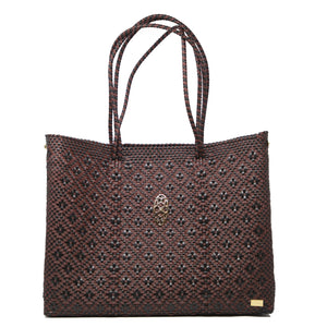 BURGUNDY BLACK TOTE WITH CLUTCH