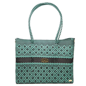TURQUOISE TOTE WITH CLUTCH