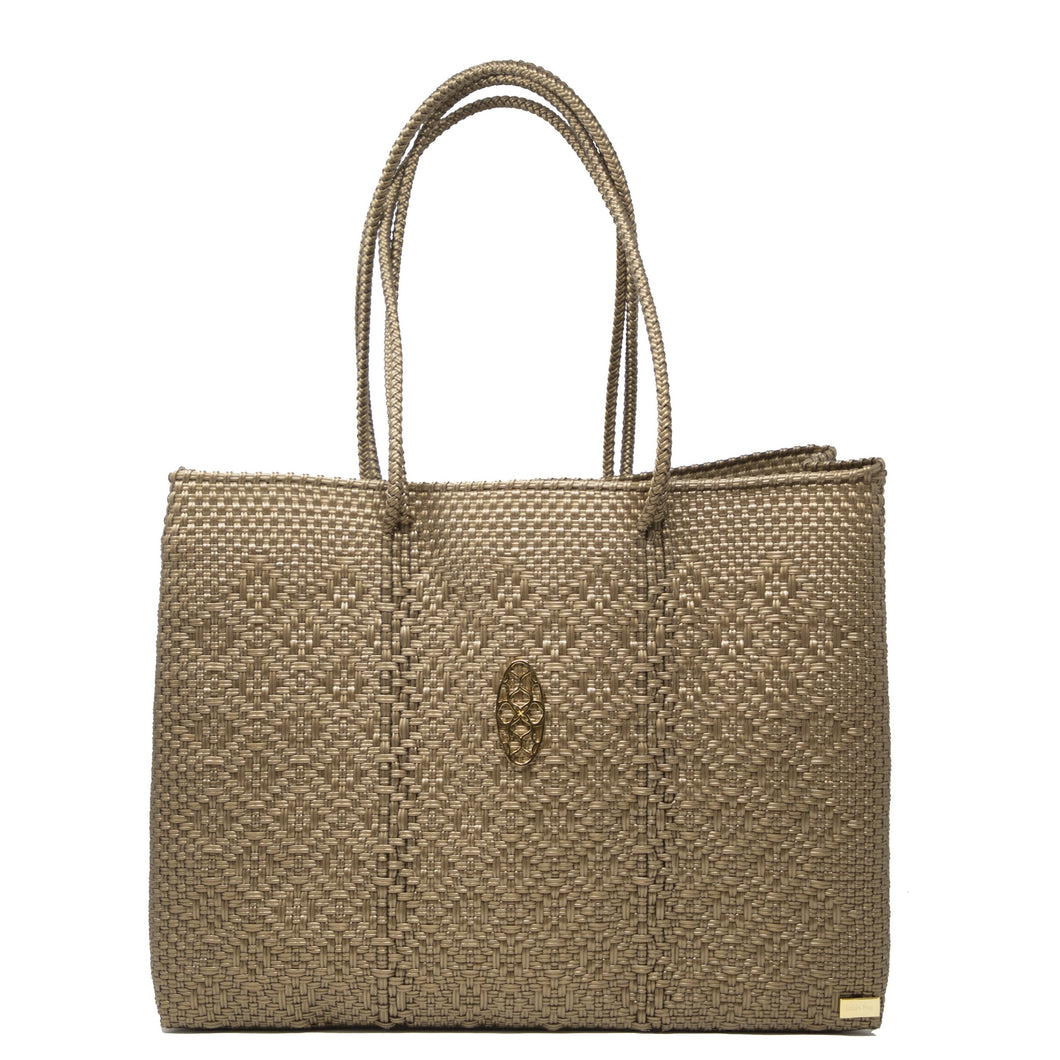 GOLD TRAVEL TOTE WITH CLUTCH